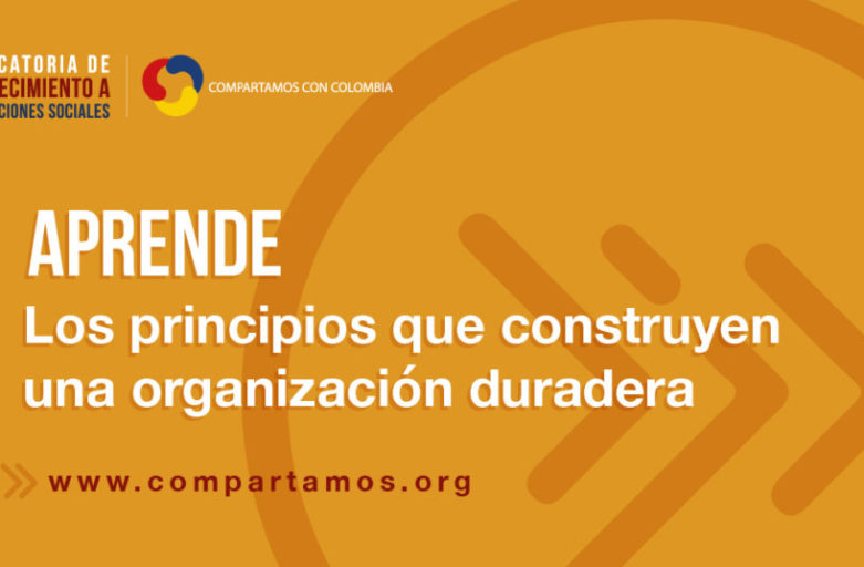 CONVOCATORIA DE FORTALECIMIENTO A ORGANIZACIONES SOCIALES